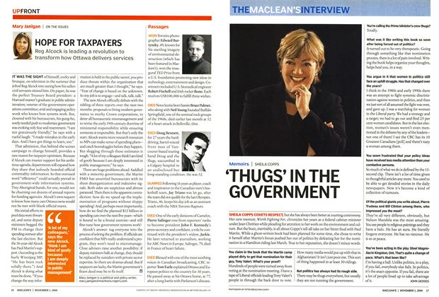 Article Preview: HOPE FOR TAXPAYERS, November 2004 | Maclean's