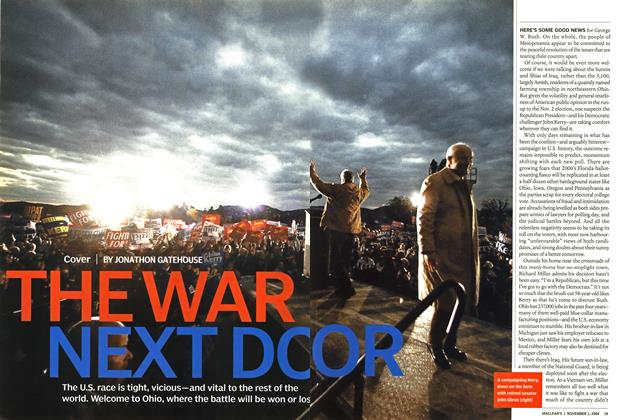Article Preview: THE WAR NEXT DOOR, November 2004 | Maclean's