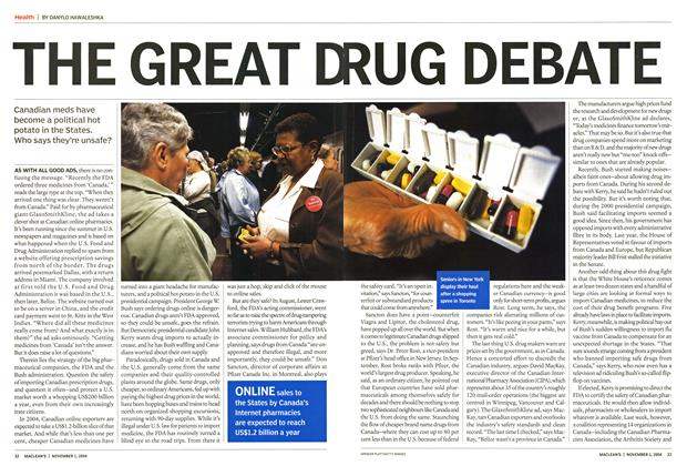 Article Preview: THE GREAT DRUG DEBATE, November 2004 | Maclean's