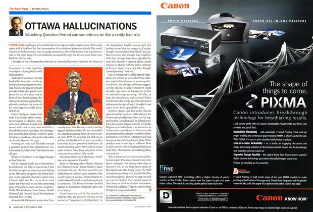 Article Preview: OTTAWA HALLUCINATIONS, November 2004 | Maclean's