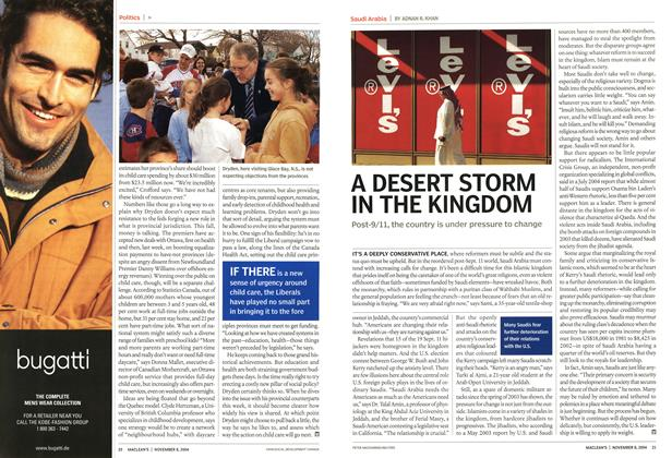 Article Preview: A DESERT STORM IN THE KINGDOM, November 2004 | Maclean's