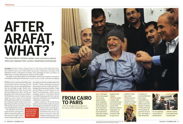 Article Preview: AFTER ARAFAT, WHAT?, November 2004 | Maclean's
