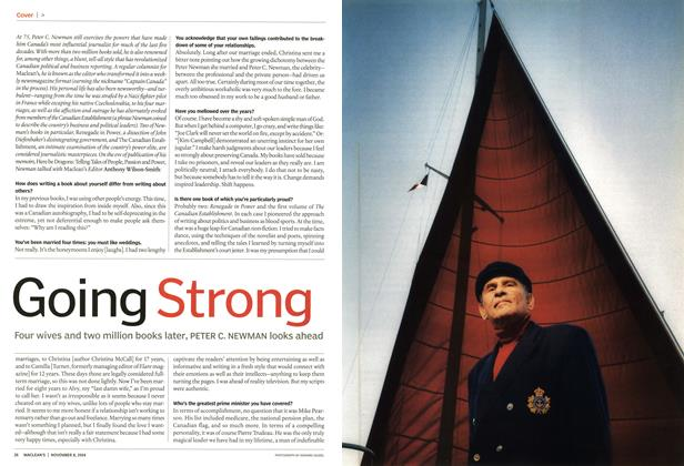 Article Preview: Going Strong, November 2004 | Maclean's