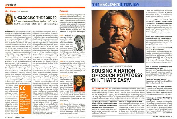 Article Preview: ROUSING A NATION OF COUCH POTATOES? 'OH, THAT'S EASY.', November 2004 | Maclean's