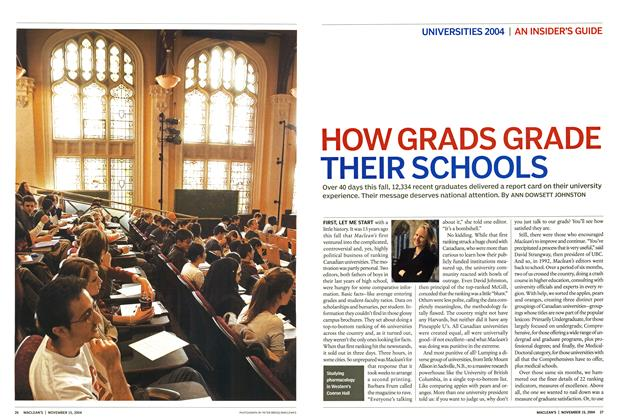 Article Preview: HOW GRADS GRADE THEIR SCHOOLS, November 2004 | Maclean's