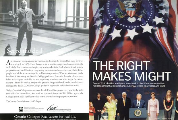 Article Preview: THE RIGHT MAKES MIGHT, November 2004 | Maclean's