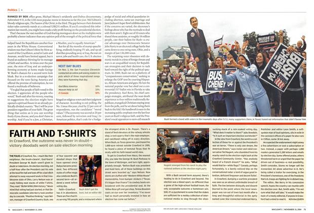 Article Preview: FAITH AND T-SHIRTS, November 2004 | Maclean's