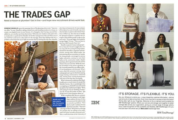 Article Preview: THE TRADES GAP, November 2004 | Maclean's