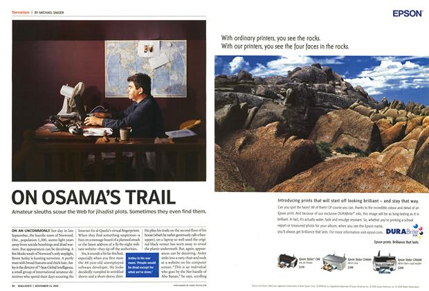 Article Preview: ON OSAMA'S TRAIL, November 2004 | Maclean's