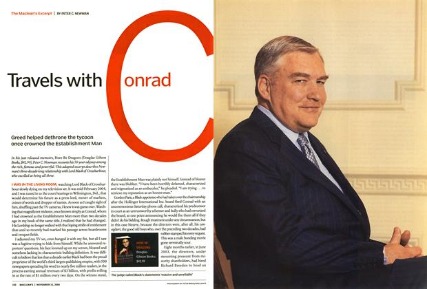 Article Preview: Travels With Conrad, November 2004 | Maclean's