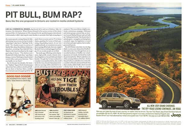Article Preview: PIT BULL, BUM RAP?, November 2004 | Maclean's