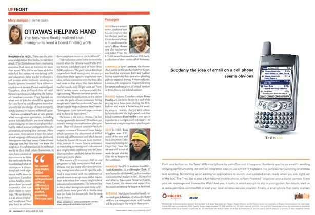 Article Preview: OTTAWA'S HELPING HAND, November 2004 | Maclean's
