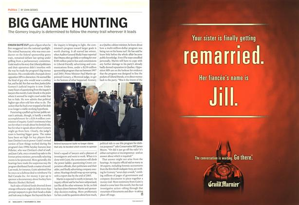 Article Preview: BIG GAME HUNTING, November 2004 | Maclean's