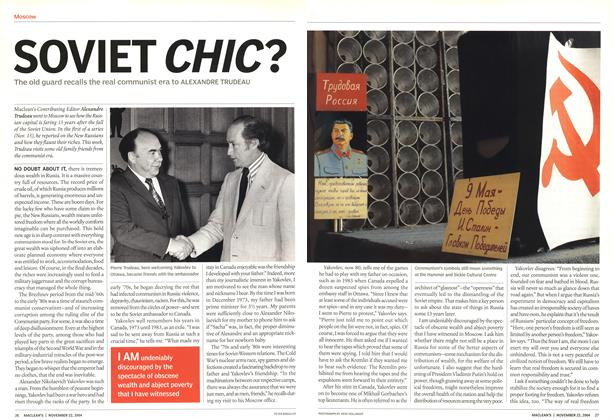 Article Preview: SOVIET CHIC?, November 2004 | Maclean's