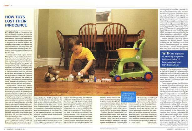 Article Preview: HOW TOYS LOST THEIR INNOCENCE, November 2004 | Maclean's