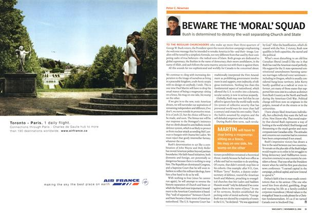 Article Preview: BEWARE THE 'MORAL' SQUAD, November 2004 | Maclean's