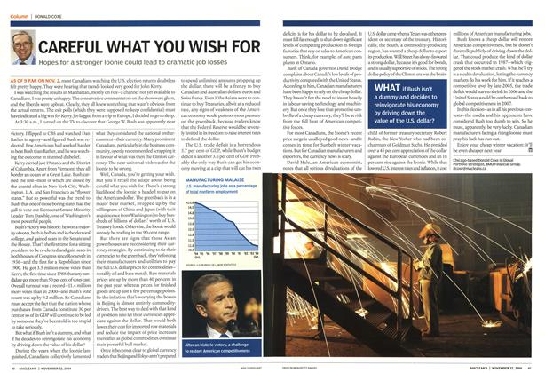Article Preview: CAREFUL WHAT YOU WISH FOR, November 2004 | Maclean's
