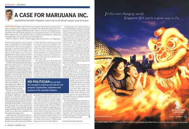 Article Preview: A CASE FOR MARIJUANA INC., November 2004 | Maclean's