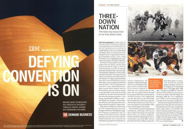 Article Preview: THREE-DOWN NATION, November 2004 | Maclean's