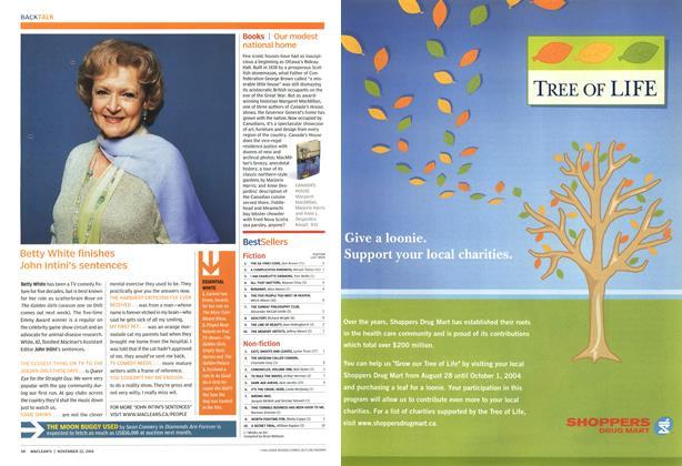 Article Preview: BestSellers, November 2004   Maclean's