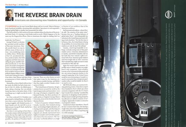 Article Preview: THE REVERSE BRAIN DRAIN, November 2004 | Maclean's