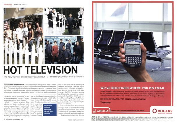 Article Preview: HOT TELEVISION, November 2004 | Maclean's