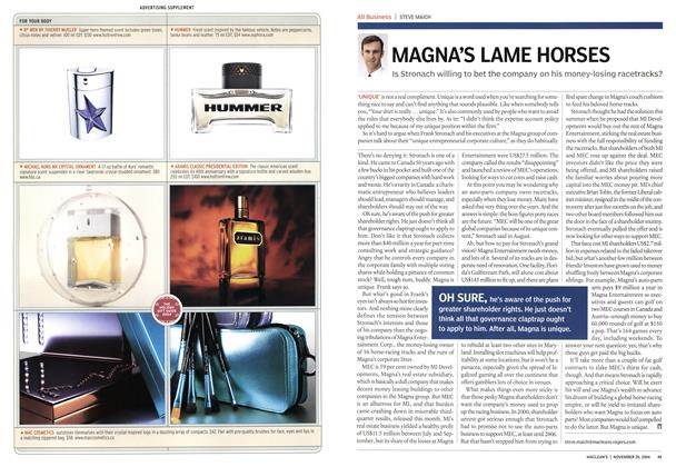 Article Preview: MAGNA'S LAME HORSES, November 2004 | Maclean's