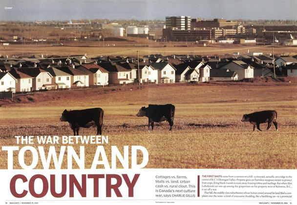 Article Preview: THE WAR BETWEEN TOWN AND COUNTRY, November 2004 | Maclean's