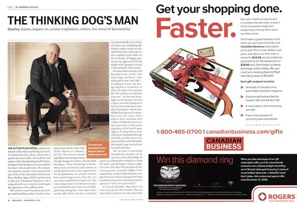 Article Preview: THE THINKING DOG'S MAN, November 2004 | Maclean's