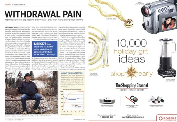 Article Preview: WITHDRAWAL PAIN, November 2004 | Maclean's
