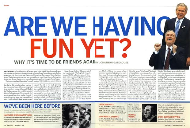 Article Preview: ARE WE HAVING FUN Y ET?, December 2004 | Maclean's