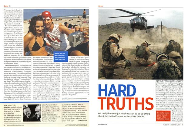 Article Preview: HARD TRUTHS, December 2004 | Maclean's
