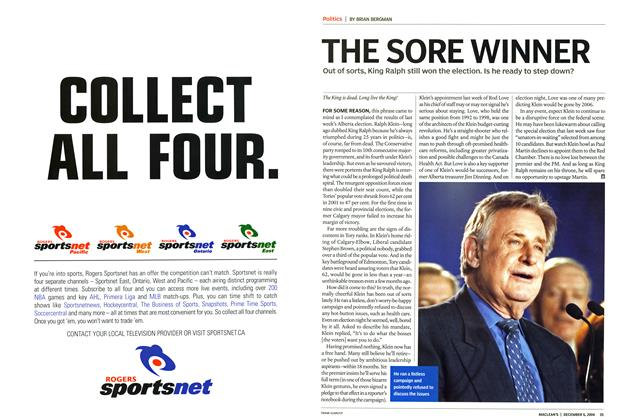 Article Preview: THE SORE WINNER, December 2004 | Maclean's