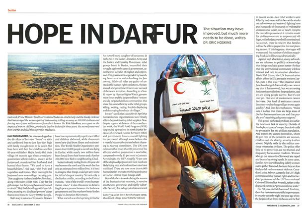 Article Preview: HOPE IN DAR FUR, December 2004 | Maclean's