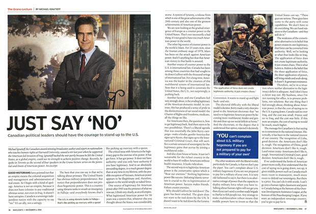 Article Preview: JUST SAY 'NO', December 2004 | Maclean's