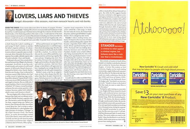 Article Preview: LOVERS, LIARS AND THIEVES, December 2004 | Maclean's