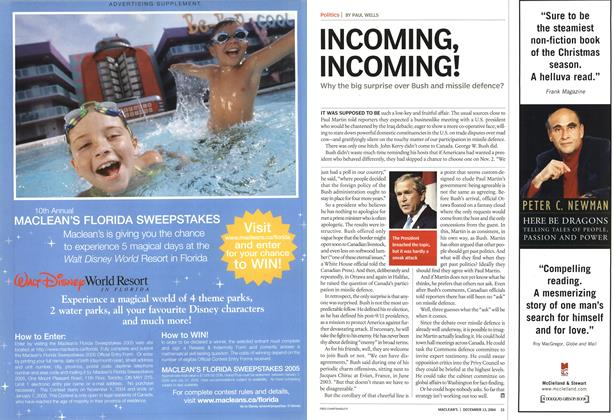 Article Preview: INCOMING, INCOMING!, December 2004 | Maclean's