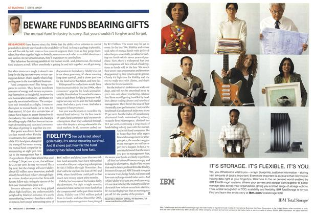Article Preview: BEWARE FUNDS BEARING GIFTS, December 2004 | Maclean's