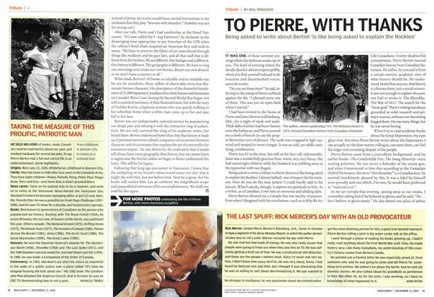 Article Preview: TO PIERRE, WITH THANKS, December 2004 | Maclean's
