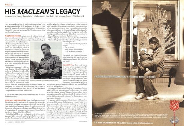 Article Preview: HIS MACLEAN'S LEGACY, December 2004 | Maclean's