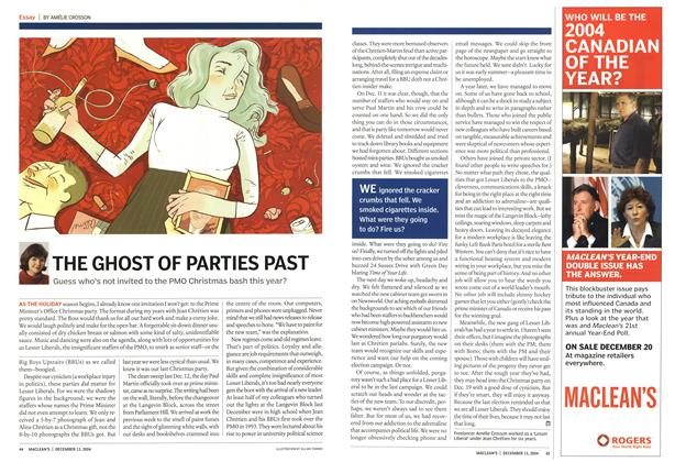 Article Preview: THE GHOST OF PARTIES PAST, December 2004 | Maclean's