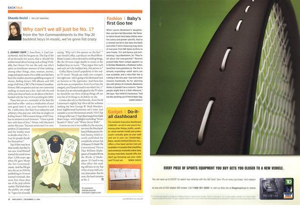Article Preview: Gadget, December 2004 | Maclean's