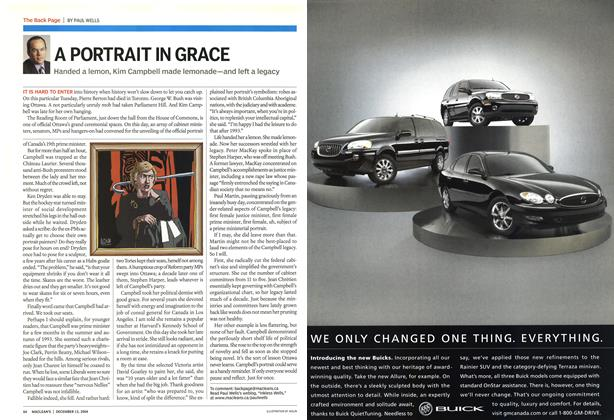 Article Preview: A PORTRAIT IN GRACE, December 2004 | Maclean's