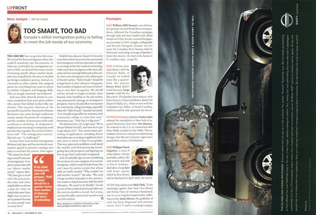 Article Preview: TOO SMART, TOO BAD, December 2004 | Maclean's