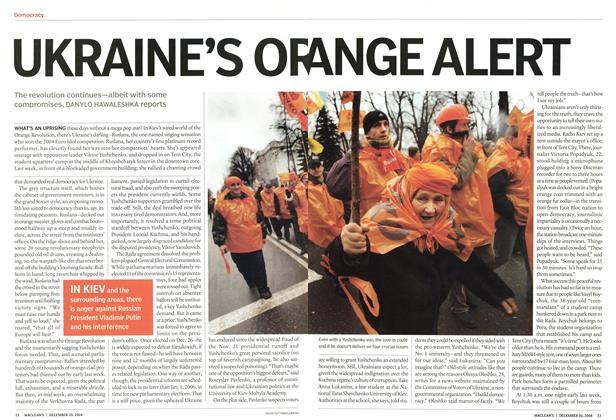 Article Preview: UKRAINE'S ORANGE ALERT, December 2004 | Maclean's
