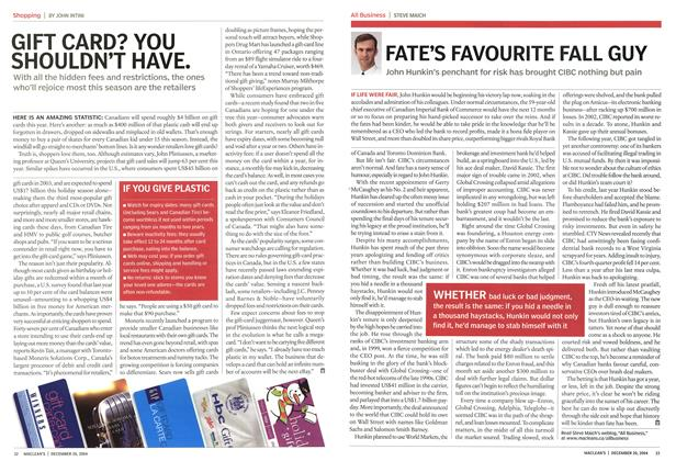 Article Preview: GIFT CARD? YOU SHOULDN'T HAVE., December 2004 | Maclean's