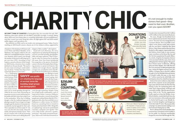 Article Preview: CHARITY CHIC, December 2004 | Maclean's