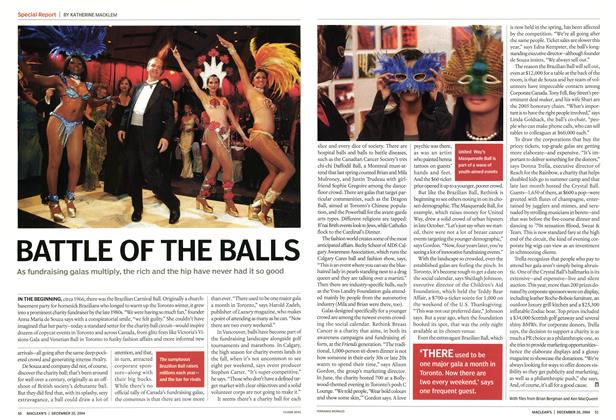 Article Preview: BATTLE OF THE BALLS, December 2004 | Maclean's