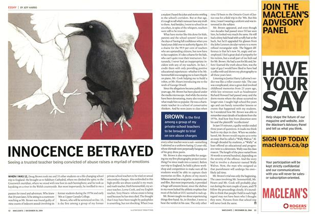 Article Preview: INNOCENCE BETRAYED, December 2004 | Maclean's