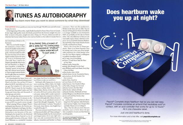 Article Preview: iTUNES AS AUTOBIOGRAPHY, December 2004 | Maclean's